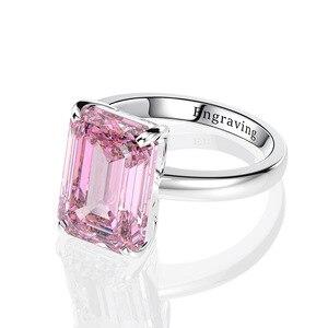 Image 4 - Wong Regen Classic 100% 925 Sterling Zilver Gemaakt Moissanite Edelsteen Wedding Engagement Diamanten Ring Fijne Sieraden Groothandel