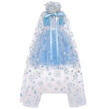 Детское бальное платье для девочек принцессы со льдом и снегом