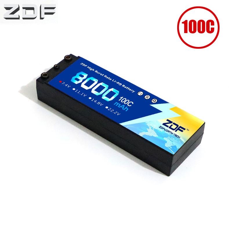 ZDF RC Car Lipo Battery 2S 2P 7 4V 8000mah 100C Max 200C Hard Case For