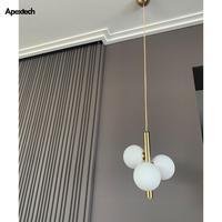 3 glas Bälle LED Kronleuchter droplight Moderne Nordic Stil Decke Hängen lampe Esszimmer Schlafzimmer Nacht Anhänger Lampe