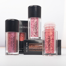 купить VERONNI Brand Shimmer Loose Eye Shadow Powder Makeup Pigment Waterproof Glitter Eyeshadow  Nude Metallic Eyes Powder Cosmetics онлайн