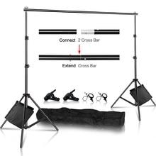 SH fotografia tło stojak wsparcie obraz rama z płótna zestaw do organizacji z futerał do przenoszenia dla muślin Studio fotograficzne wideo