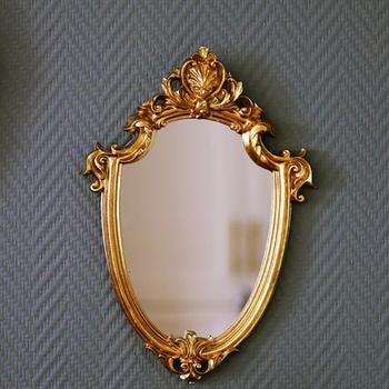 Wykwintne lustro do makijażu lustro wiszące Vintage lustro łazienkowe prezenty kobieta kosmetyk dla pań lustro ścienne wiszące ramki żywica taca tanie i dobre opinie CN (pochodzenie)