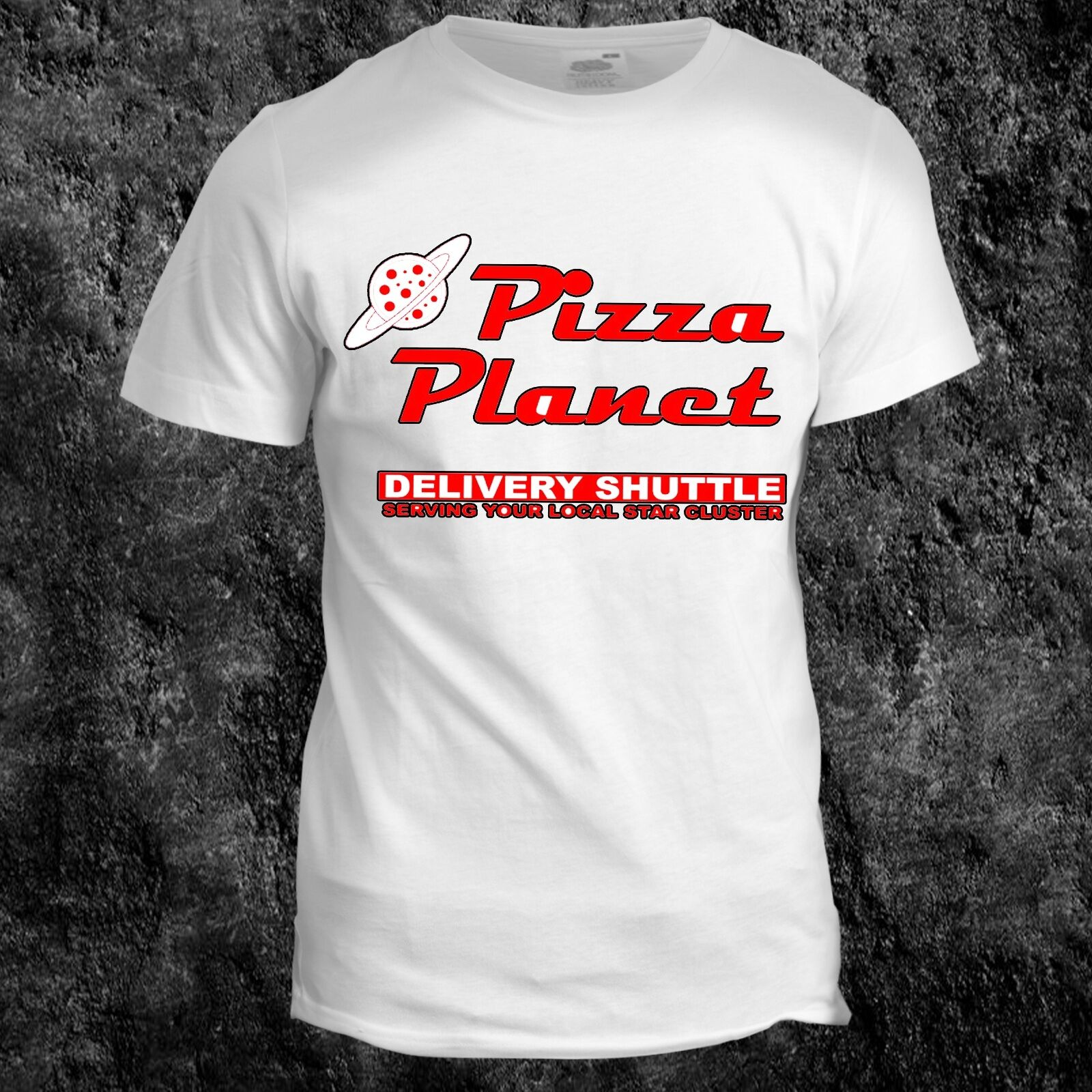 Toy Story Pizza Planet Inspired Film Cartoon Buzz Movie Kids 90s T shirt image