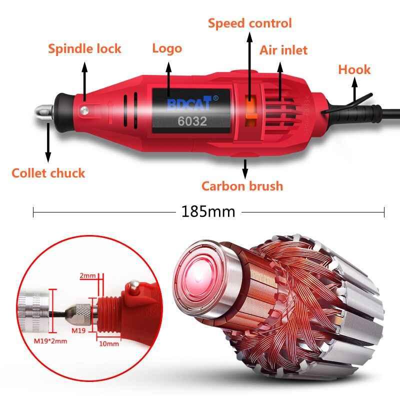 BDCAT Mini Elettrico Rotary Strumento Grinder Velocità Variabile FAI DA TE Trapano A Mano Incisione di Macinazione Lucidatura Macchina di Alimentazione Dremel Strumenti