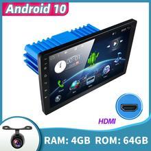 1 din/2 din DSP Android 10 Multimedia lettore Video DVD navigazione GPS autoradio Stereo Wifi BT HDMI Carplay OBD DAB SWC 4G + 64G