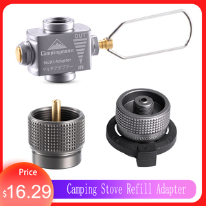 Gas Adapter Gas Saver Plus with Butane Adapter Gas Stove Adapter Camping Stove Refill Adapter Hiking Cookware Camping Equipment