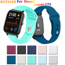For Xiaomi Huami Amazfit GTS Bip BIT PACE Lite Youth Silicone wristband For Huami Amazfit GTS watch strap 20mm Smart accessories mijobs 20mm silicone wrist strap protective case cover plastic pc shell for huami xiaomi amazfit bip bit pace lite smart watch