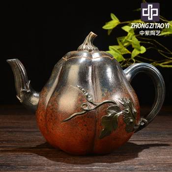 In Purple Yixing Famous Imitate Old Kettle Old Dark-red Enameled Pottery Teapot Taiwan Backflow One Factory The Cultural