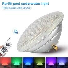 Luz de piscina LED IP68 Par56, luces subacuáticas, AC12V, RGB, de Color cambiable, impermeable, reemplaza las lámparas halógenas