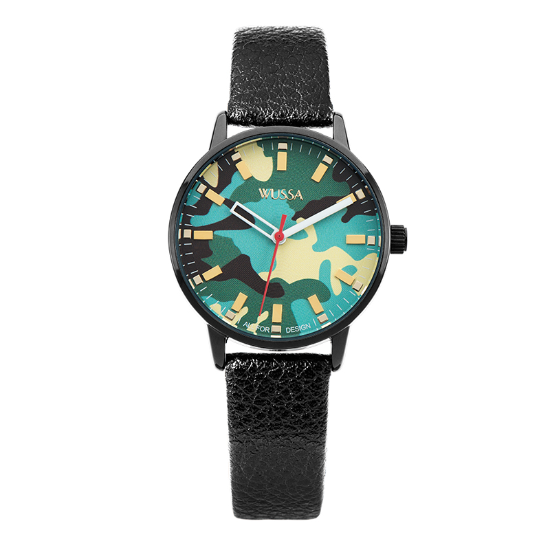 WUSSA camouflage series original sufeng small network red stone ying lady watch