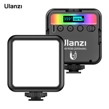 Ulanzi vl49 rgb pocket led luz de vídeo fotografia luz de preenchimento 2500k-9000k pode ser escurecido cri95 + bateria embutida com montagens de sapato frio