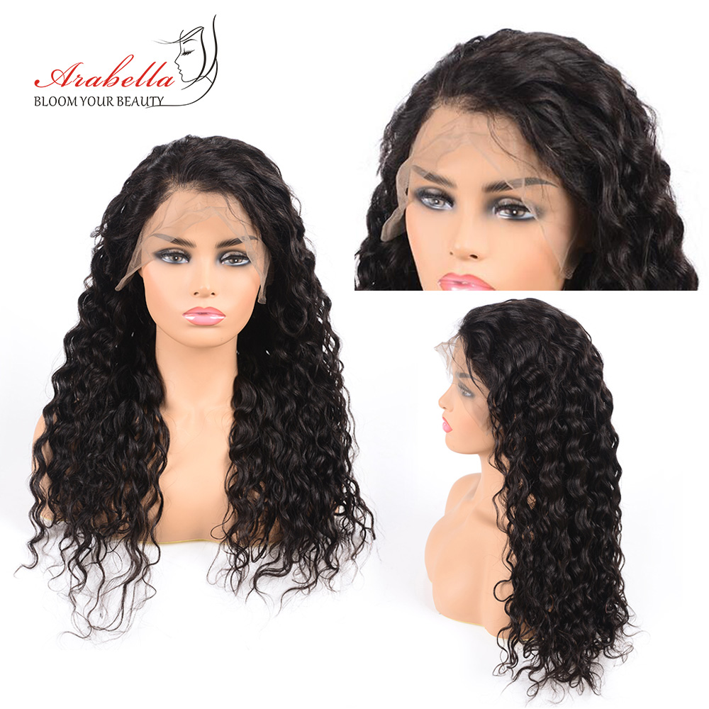 13*4 Water Wave Lace Front Wig Pre Plucked Bleached Knots  Wigs For Woman Arabella  Lace Frontal Wig 1