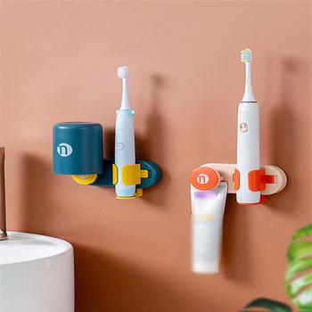 3 kolory elektryczny uchwyt na szczoteczki do zębów stabilny uchwyt ścienny trzymaj chroń uchwyt szczoteczki do zębów oszczędzaj miejsce zachowaj suchy uchwyt na szczoteczki do zębów tanie i dobre opinie CN (pochodzenie) ABS+PP 80g without cup 121g with cup 13*5 5*4cm dropshipping wholesale