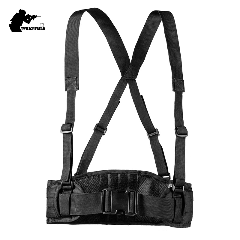 Military Molle Tactical Belt Top Quality 600D Nylon Waterproof Outdoor X Braces Multifunction Tactical Girdle 5 Colors BE012