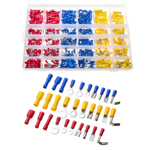 480 pcs/lot Splice Cold Pressed Assorted Insulated Spade Crimp Terminal Butt Electrical Wire Cold-Pressure Terminal Set(China)