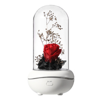 Christmas LED Rose Lamps Preserved Rose Lamp Aromatherapy Mechine Aroma Essential Oil  with 7 Colors Changing Light|Outdoor Landscape Lighting| |  -