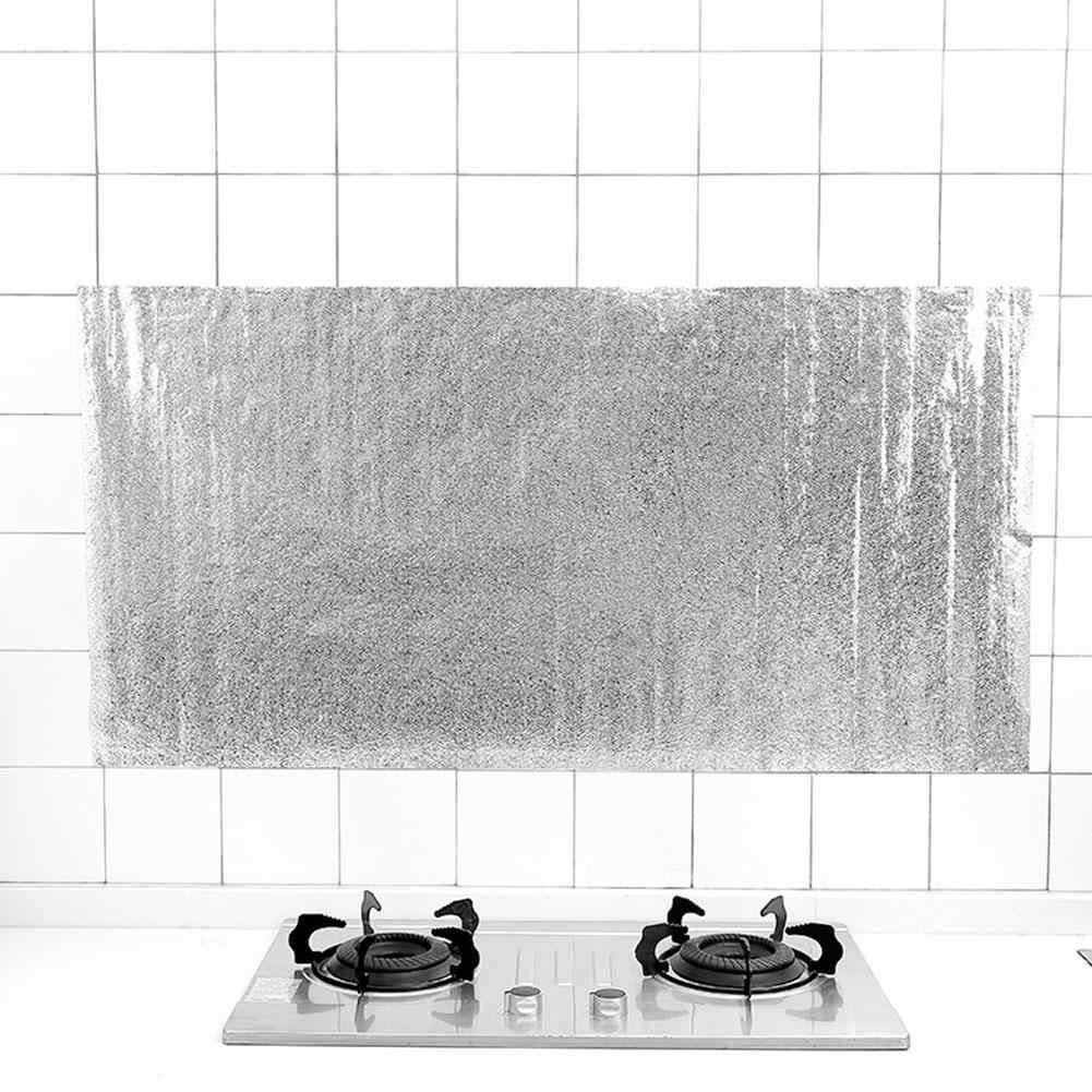 - Hot Home Kitchen Backsplash Self Adhesive Tin Foil Oil Proof Stove