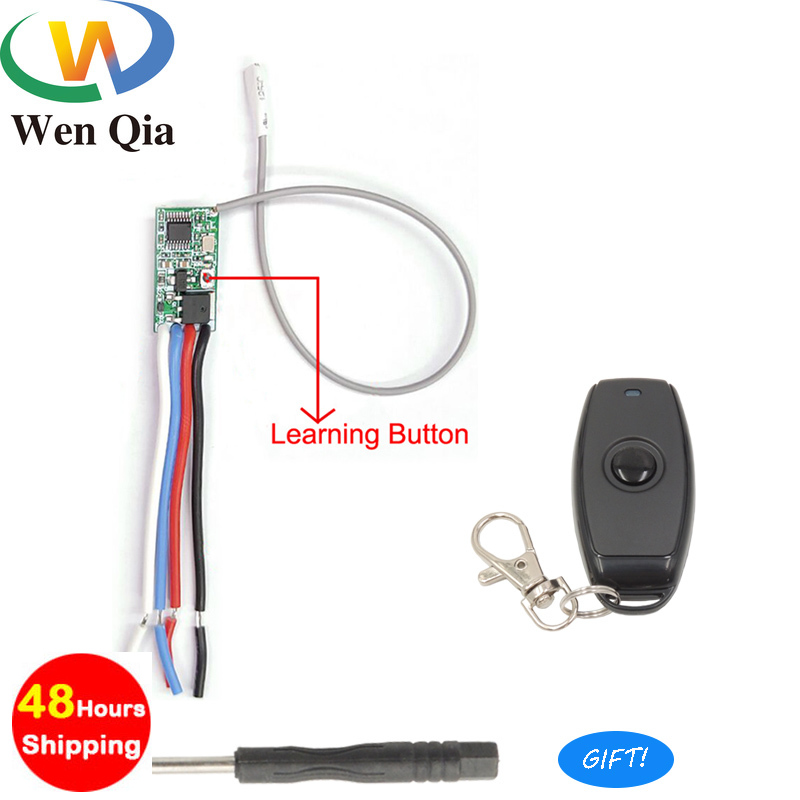 433mhz DC 3.6V 6V 12V 24V 1CH Relay Wireless RF Remote Control Switch Mini Module With Transmitter For Power LED Lamp Light DIY