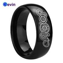 8 мм Вольфрам обручальное Для мужчин женщин гравировка кольцо