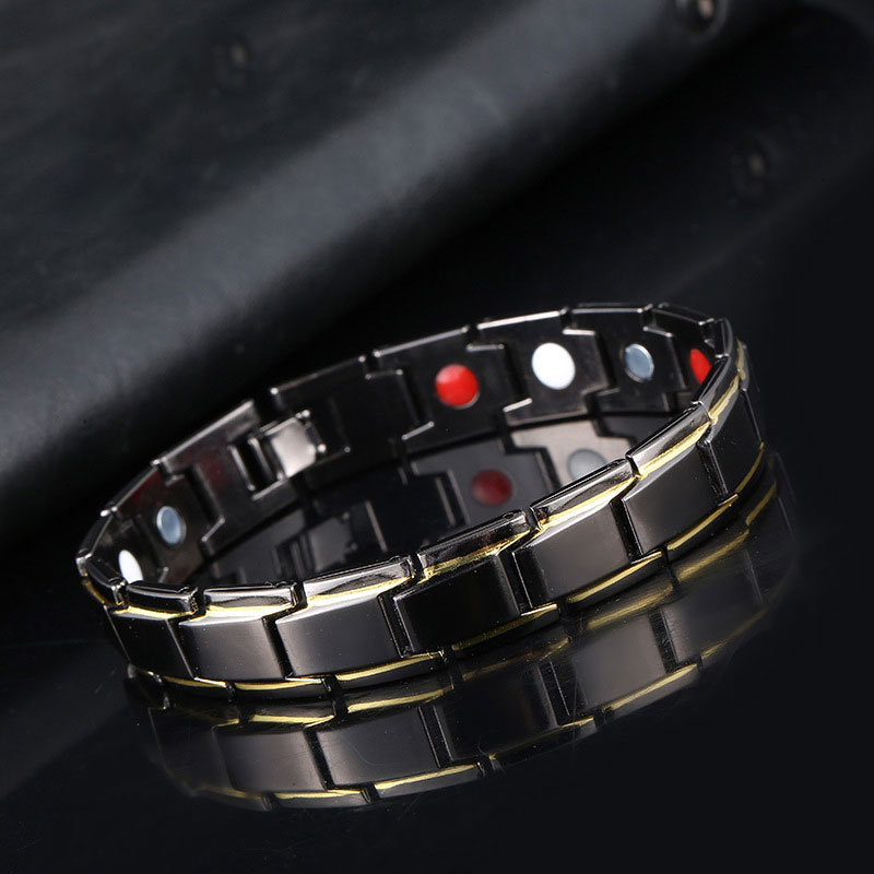 4 in1 Weight Loss Men's Bracelet Energy Magnets Slimming BangleTwisted Magnetic Therapy  Healthcare Jewelry Wholesale