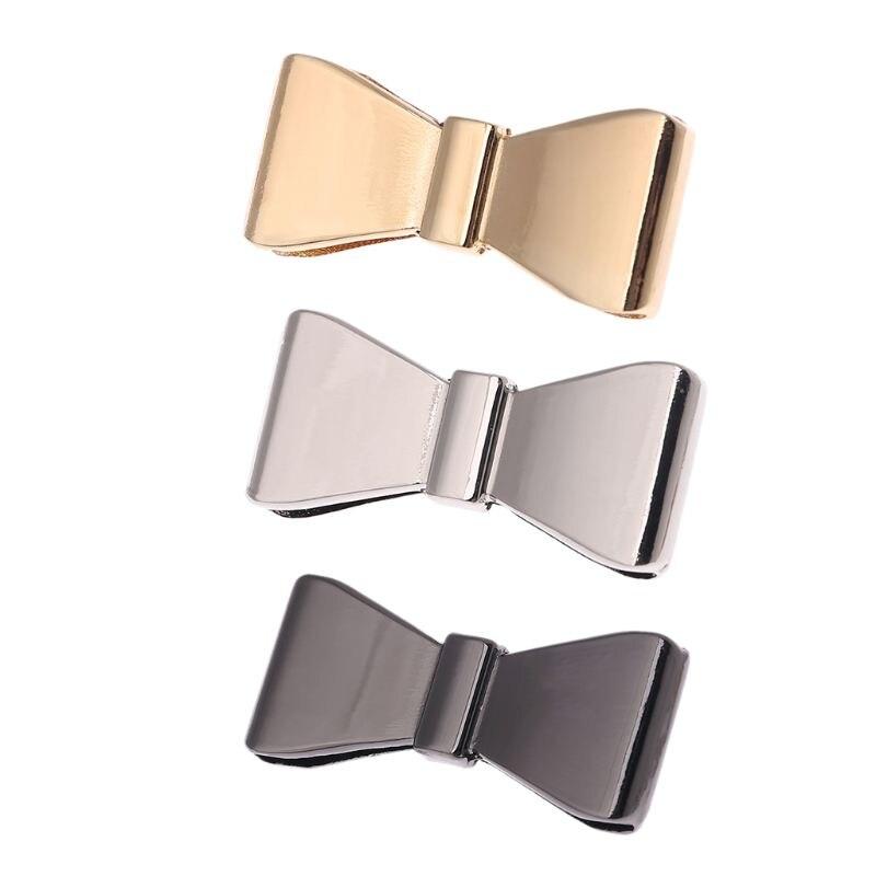 Metal Bowknot Decoration For Handbag Shoes Luggage Bag Decor Ornament Hardware DIY Accessory 517D
