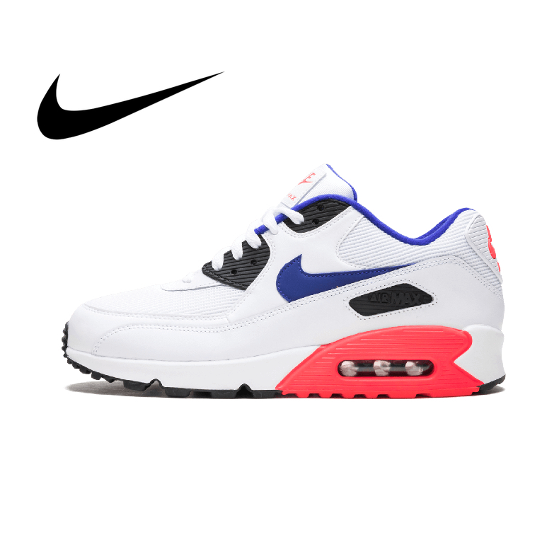 Original Authentic NIKE AIR MAX 90 Men's Running Shoes Classic Outdoor Sports Sneaker Lace-up Comfortable Breathable 537384-136