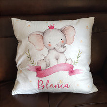 Baby Bumper Cushion-Cover Crib-Protector Pillow Personalized for Infant Room-Decor Gift