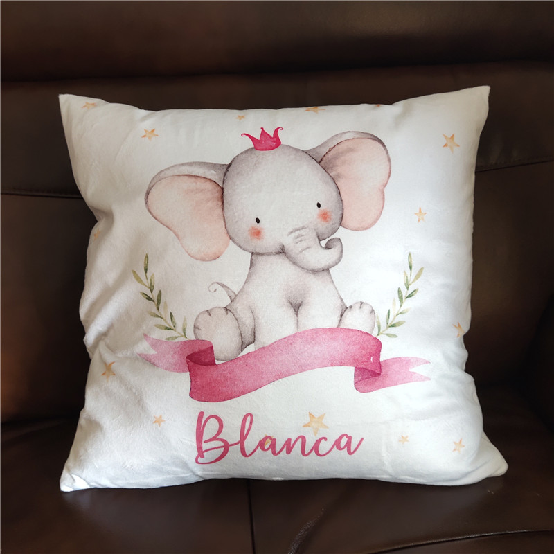 Baby Bumper Bed Pillow Cushion Cover For Infant Bebe Name Personalized Crib Protector Pillow Cover Room Decor Baby Gift