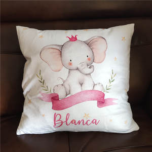 Baby Bumper Pillow Cover Crib-Protector Room-Decor Bebe-Name Personalized for Infant