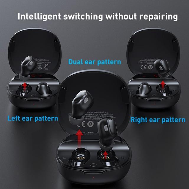 Baseus WM01 Plus Wireless Headphones TWS Bluetooth 5.0 Earphones Stereo Sports Waterproof Headsets with LED Digital Display 4
