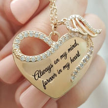 Изысканное креативное ожерелье «Крылья Ангела» с надписью «love»