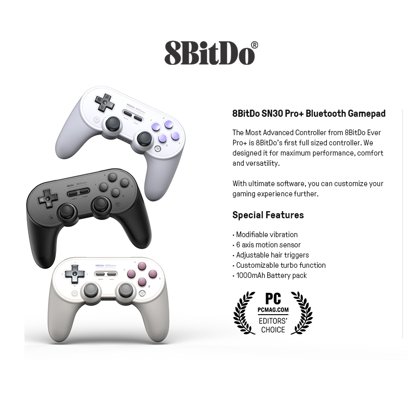 8bitdo SN30 PRO  Wireless Joystick Bluetooth Remote Game Controller Gamepad for Windows Android macOS Nintend Switch