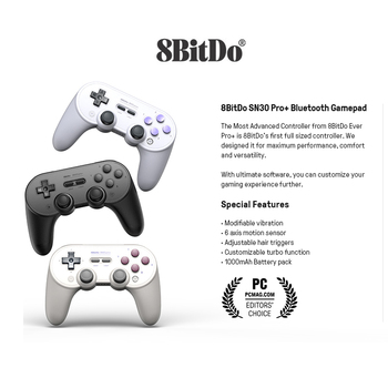 8bitdo SN30 PRO+ Wireless Joystick Bluetooth Remote Game Controller Gamepad for Windows/Android/macOS/Nintend Switch