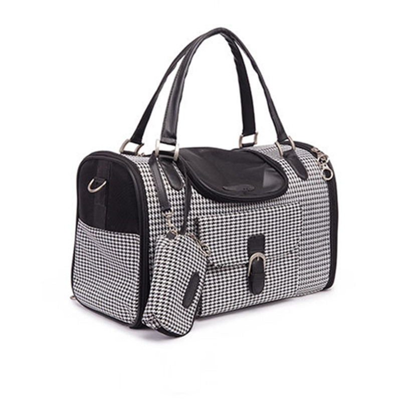 Portable Outdoor Pet Cat Dog Carrier Bag With Purse Pu Leather Travel Small Dog Teddy Carrying Bags Handbag Pets Supplies in Dog Carriers from Home Garden