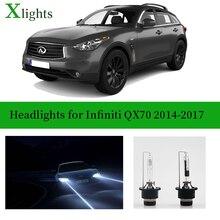 Xlights For Infiniti QX70 2014 2015 2016 2017 Xenon Bulb Headlight Lamp 12v Kit HID Lights