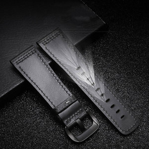 Image 4 - PEIYI 28mm Carbon fibre leather watchband  black with white blue orange red line strap substitute for Sevenfriday leather strap