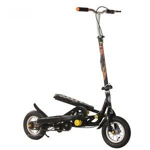 Image 2 - Складной Педальный скутер для подростков, 10 дюймовый надувной колесный скутер из алюминиевого сплава с нагрузкой 90 кг, скутер для фитнеса