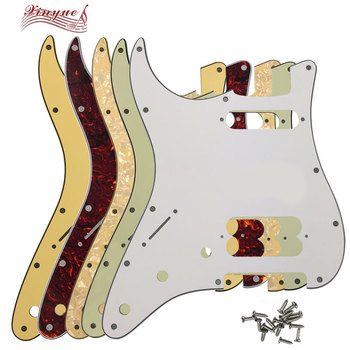 Pleroo Guitar Parts - For left handed US 11 Screw Hole Standard Start Player HS Guitar pickguard  pickup screw with No knob hole newest arrival china oem satin cherry finish lpj electric guitar left handed guitar custom available