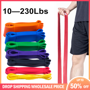 Resistance Band Exercise Elastic Band Workout Ruber Loop Strength Pilates Fitness Equipment Training Expander Unisex image