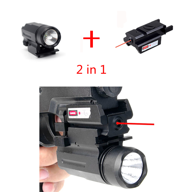 Outdoor tactical combination X100 glare flashlight 20mm track + ultra low base hanging sight infrared point laser