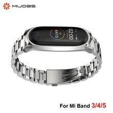 Металлический браслет из нержавеющей стали для xiaomi mi band