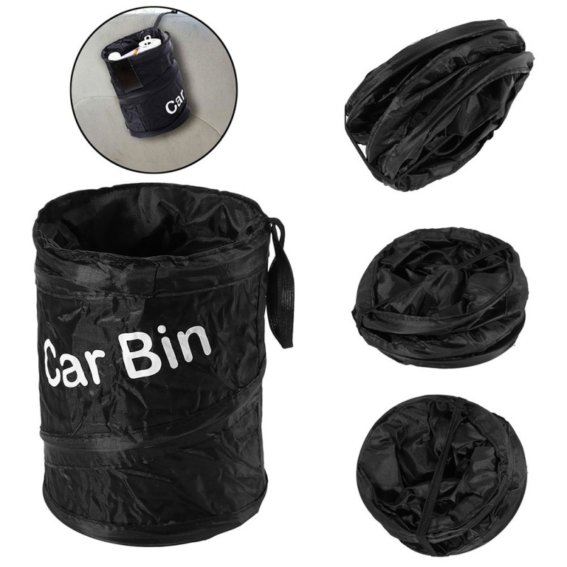 Wastebasket Trash Can Litter Container Car Auto Garbage Bin Bag Phone Cradle Car Phone Organiser Box Storage