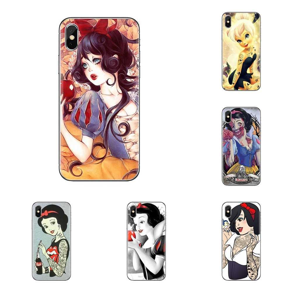 Untuk Samsung Galaxy S2 S3 S4 S5 Mini S6 S7 Edge S8 S9 Plus Note 2 3 4 5 8 coque Fundas Tato Ariel Alice Snow Putih Handphone