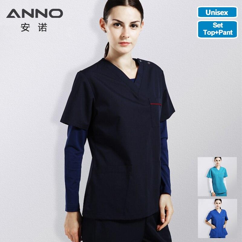 ANNO gommages ensemble vêtements de travail hôpital forme classique Foctor femme homme soins infirmiers uniforme vêtements dentaires