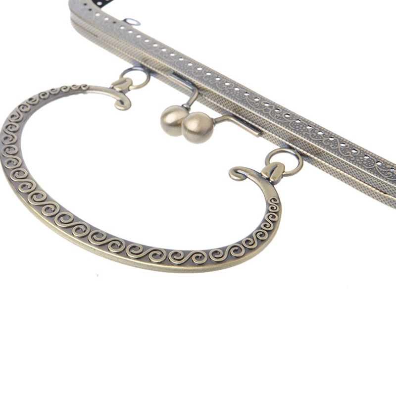 Metalowa rama pocałunek blokada zapięcia do szycia torebka moneta torba narzędzie do majsterkowania 20x12cm A69C