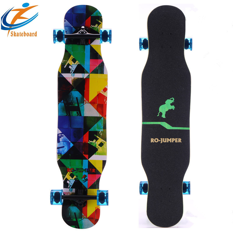 SOURCE Skateboard Four Wheel Skateboard Double Snubby Brush Street Board Maple Board Adult Children Profession Scooter Manufactu