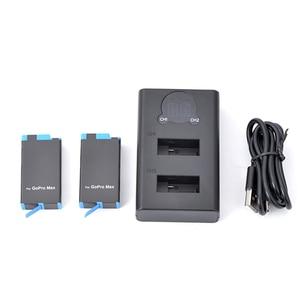 Image 2 - GoPro MAX 카메라 교체 용 배터리 GoPro MAX 파노라마 액션 카메라 액세서리 용 듀얼 슬롯 배터리 충전기