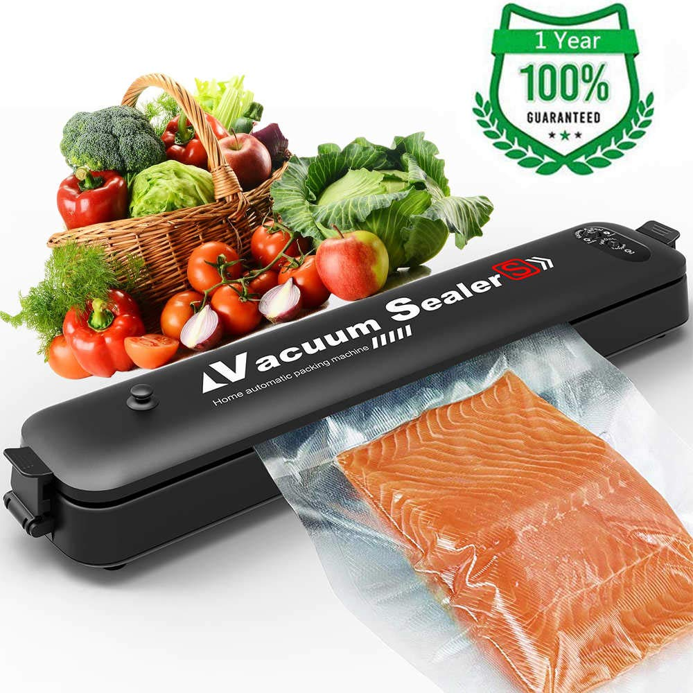 YAJIAO 220v/110v Vacuum Sealer Automatic Food Sealer Machine With 15 Sealing Bags & Starter Kit