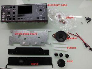 Mchf sdr 라디오 ui rf v0.5 v0.6 + 실드 보드 + 스피커 + 핸들 용 알루미늄 케이스
